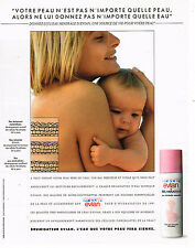 PUBLICITE ADVERTISING 015  1992  EVIAN   brumisateur pour maman & bébé
