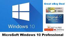 Microsoft Windows 10 Pro Professional  License Key 32/64 Bit License COA Sticker