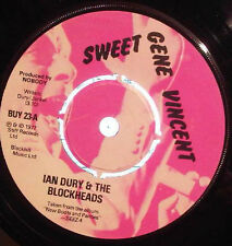 Ian Dury & The Blockheads, Sweet Gene Vincent, NEW/MINT UK 7 inch vinyl single