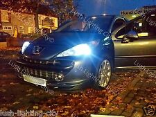PEUGEOT 207 LED SIDELIGHT BULB T10 501 W5W CANBUS NO ERRORS XENON WHITE CC SW