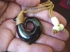 #MA-03B MAORI style FISH HOOK aceh bovine horn PENDANT Jewelry Necklace