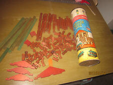 Vintage original Lincoln logs Set 4CF 98 of 136 pieces