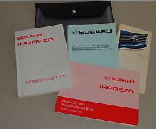 Bordmappe mit Betriebsanleitung Handbuch Subaru Impreza Version I Stand 1994
