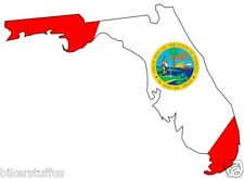 FLORIDA SILHOUETTE STATE MAP FLAG BUMPER STICKER