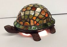 Tiffany style Stained Glass Turtle Accent Table Lamp