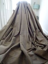 OPULENT CURTAINS 100% SILK contemporary chic tonal MUSHROOM/TAUPE *MASSIVE* wOw!