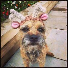 El sombrero de Reno, Redecilla Para Su Perro. Pug, Terrier, Ciervos Navidad Traje Pequeño Perro.