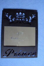 "HOBBY LOBBY 6"" X 4"" PRINCE CROWN PICTURE PHOTO FRAME METAL BLACK MATTE NEW"