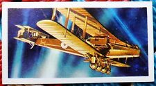 Brooke Bond History of Aviation tea card 11 Handley Page O/400 Bomber Biplane