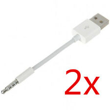 2x USB Charger Data SYNC Cable Lead For Apple iPod Shuffle 1st 2ND Generation