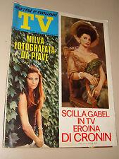 TV SORRISI CANZONI=1971/38=SCILLA GABEL=MILVA=EQUIPE 84=ENZO CERUSICO=CIPRIANI=