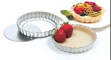 Norpro 3715 Tin Quiche Tartlet Tart Pastries Mini Custard Pans Set of 2