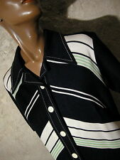 CHIC VINTAGE ROBE JERSEY 1960 VTG DRESS 60s STRIPE SIXTIES KLEID 60er ABITO (42)