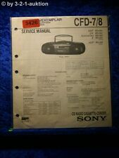 Sony Service Manual CFD 7 / 8 Cassette Recorder (#3426)