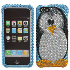 For Apple iPhone 5C Crystal Diamond BLING Hard Case Phone Cover Penguin