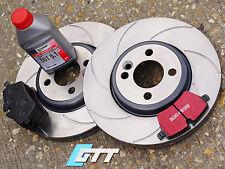 Mini Cooper S R56 GP JCW  Grooved Front Brake Discs GTT Spiroslot,Kevlar Pads
