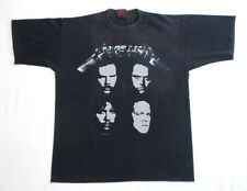 VINTAGE T SHIRT 90's Metallica BLACK Concert Tour HISTORIC DATES 1991