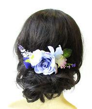 Lilac Purple Rose Lavender Flower Hair Comb Leaf Bridesmaid Clip Headpiece 1577