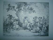 Planche gravure Jean Jacques Lagrenée Sacrifice au dieu Pan