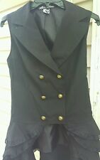 Hot topic spin doctor Beatrix waist coat ruffle vest Gothic Victorian women's S