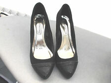 """red herring"" ladies black size 3 shoes sparkly toes and heels"