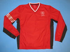 ADIDAS Lithuania VYTIS V-Neck Wind Shirt Jacket Red Sz S Lithuanian Knight