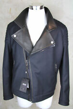 Hugo-Boss-Selection-Biker - chaqueta-t-Casano - 50-tailored-cuero-Mantel - Coat-Jacket-L