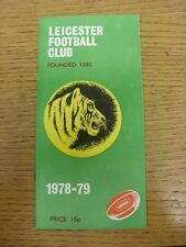16/09/1978 Rugby Union Programme: Leicester v London Welsh (rusty staple). Thank