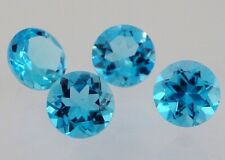 London Blue Topaz Gemstone Round VVS 6mm Loose Natural Gem