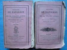HISTOIRE DE NAPOLEON et de la grande armée en 1812 (1825). 2 vol. + atlas 6 pl.