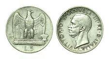 pcc1641_7) Italia regno Vittorio Emanuele III lire 5 aquilino 1929 **