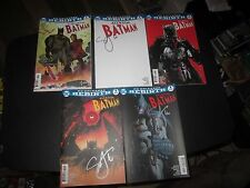 COMPLETE SET DC REBIRTH: ALL-STAR BATMAN # 1 ALL 5 COVERS SIGNED SCOTT SNYDER!!!