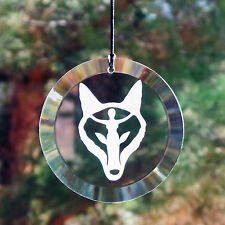 Wolf Walker Etched Glass Suncatcher Ornament *Beautiful* Wiccan Pagan Decor AG8