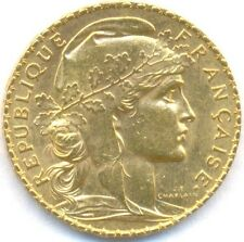 1912 Gold 20 Francs *Rooster* France, Uncirculated