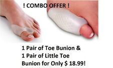COMBO OFFER ! Toe Bunion & Little Toe Bunion Silicone Gel Support Protector