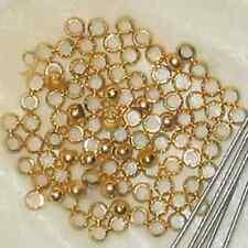 Quetschkugeln Quetschperlen Crimps 2mm Metall gold 100x
