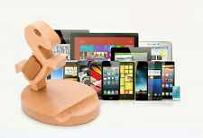 Wooden phone holder iPhone table stand for Sony xperia samsung glaxay Tablet