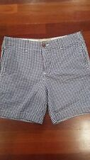 Hollister Men's Blue & White Seersucker Plaid Bermuda Shorts 32