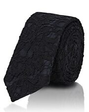 Givenchy Riccardo Tisci Men's Black Guipure Lace Overlay Tie