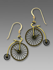 Sienna Sky Antique Style Velocipede BICYCLE EARRINGS Bike Gold Filled - Boxed