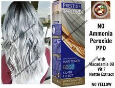 HAIR GREY GRAY SILVER TONER DYE BLOND BLEACHED LIGHT NO AMMONIA & PEROXIDE BB02