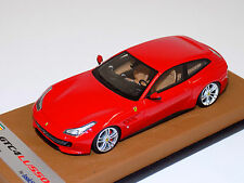 1/43 Looksmart Ferrari GTC4 Lusso in Rosso Corsa on Tan Leather Base