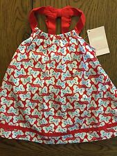 *NWT GYMBOREE* Girls STAR-SPANGLED SUMMER 2 Piece Butterfly Bow Dress Cover 3-6M