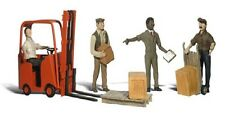 Woodland Scenics A2744 9pc Workers with Forklift Set 0 Gauge Tracked 48 Post
