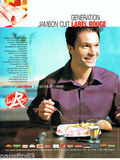 PUBLICITE ADVERTISING 016  2004  le Jambon cuit Label rouge