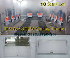 3KW Spray/Baking Booth Infrared Paint Curing Lamps Heaters Heating Lights 10Sets