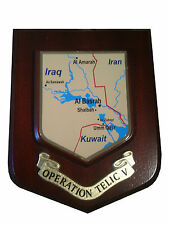 Operation Telic V 5  Iraq Military Wall Plaque UK Hand Made for MOD