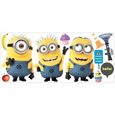 DESPICABLE ME 2: Giant Minions Wall Decals Room Decor Stickers Movie Decorations