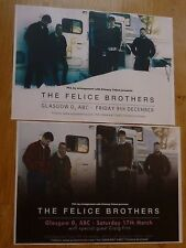 The Felice Brothers Scottish tour Glasgow concert gig posters x 2