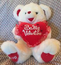 Dan Dee 2009 Sweetheart Series White Red Love Heart Be My Valentine Teddy Bear